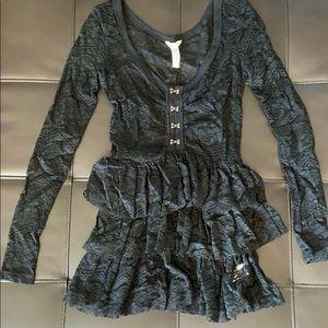 Bethany Mota black long sleeve top